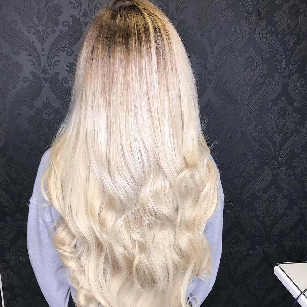 Blonde hair colouring