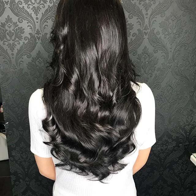 Black hair colour